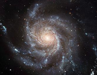 A pinwheel galaxy.