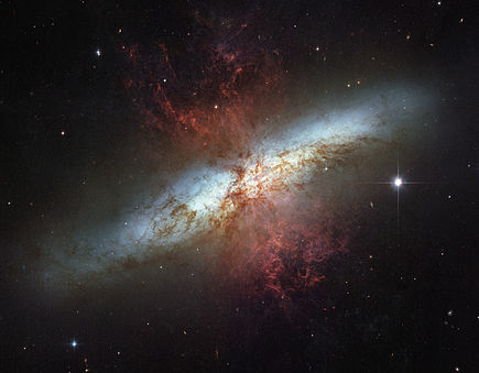 A starburst galaxy.